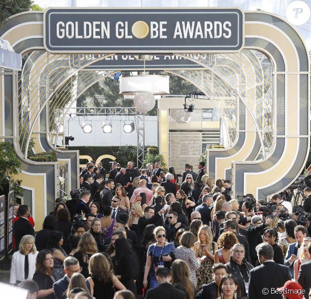 Illustration au photocall de la 76ème cérémonie annuelle des Golden Globe Awards au Beverly Hilton Hotel à Los Angeles, Californie, Etats-Unis, le 6 janvier 2019.
