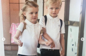 Jacques et Gabriella de Monaco craquants et heureux pour leur retour à l'école