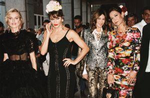 Carla Bruni : Top model canon pour Dolce & Gabbana, avec Monica Bellucci