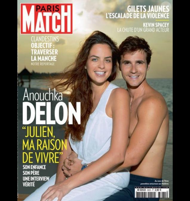 """Couverture du magazine """"Paris Match"""" en kiosque le 10 janvier 2018"""