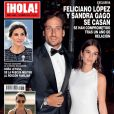 """Le magazine espagnol """" ¡Hola! """" annonce les fiançailles de Feliciano Lopez et Sandra Gago. Janvier 2019."""
