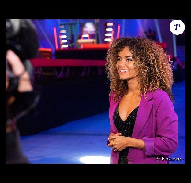 """Anaïs Grangerac, la sublime coanimatrice de Christophe Beaugrand et Laurence Boccolini dans """"Big Bounce Battle, la course de trampoline"""" (TF1)."""