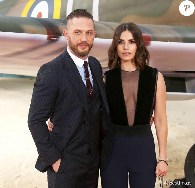 Tom Hardy et sa femme Charlotte Riley - Célébrités lors de la première mondiale de ''Dunkerque'' (Dunkirk) au Odeon Cinema à Londres le 13 juillet 2017.