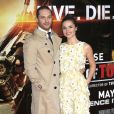 """Tom Hardy, Charlotte Riley lors de la première mondiale du film """"Edge of Tomorrow"""" à Londres, le 27 mai 2014."""
