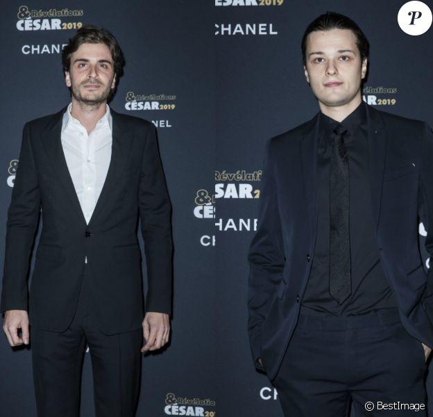 Roman Kolinka et Jules Benchetrit au dîner des Révélations des César le 14 janvier 2019 à Paris.