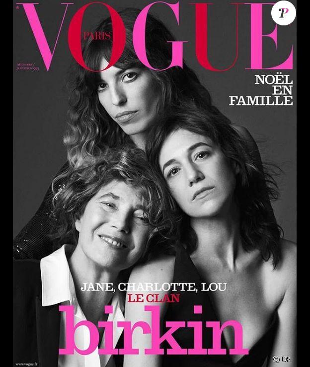 """Couverture du magazine """"Vogue Paris"""" en kiosque le 6 décembre 2018."""