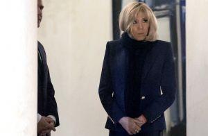 Brigitte Macron : Chic en noir pour une visite exceptionnelle avec Edith Cresson