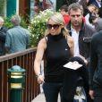 Cécile de Ménibus est à Roland-Garros,a ccompagnée de son mari Yann. 27/05/09