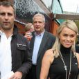 Cécile de Ménibus est à Roland-Garros, accompagnée de son mari Yann. 27/05/09