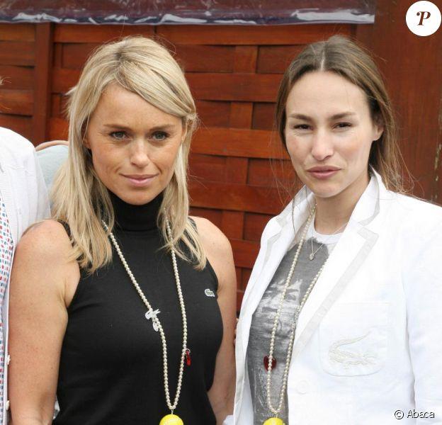 Cécile de Ménibus et Vanessa Demouy à Roland-Garros. 27/05/09