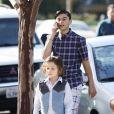 Kingston Rossdale, Apollo Rossdale - Gwen Stefani se rend avec ses enfants à une messe dominicale à Los Angeles. Le 27 janvier 2019
