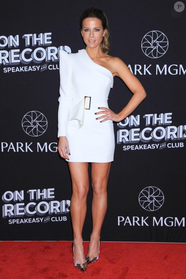 Kate Beckinsale à la soirée On The Record au Park MG à Las Vegas, le 19 janvier 1919.