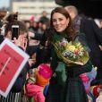 """Le prince William, duc de Cambridge, et Kate Middleton, duchesse de Cambridge, inaugurent officiellement le musée de design """"Victoria and Albert Museum Dundee"""" à Dundee en Ecosse, le 29 janvier 2019."""