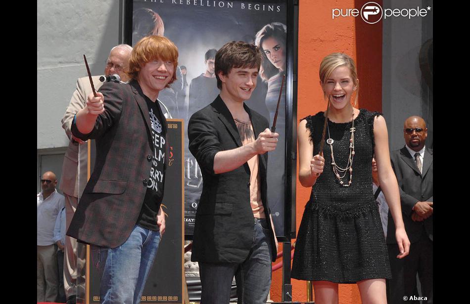 Daniel Radcliffe, Emma Watson et Rupert Grint... Rupert Grint