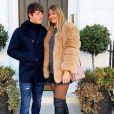 Dylan Deschamps et sa compagne Mathilde à Londres le 3 février 2019.