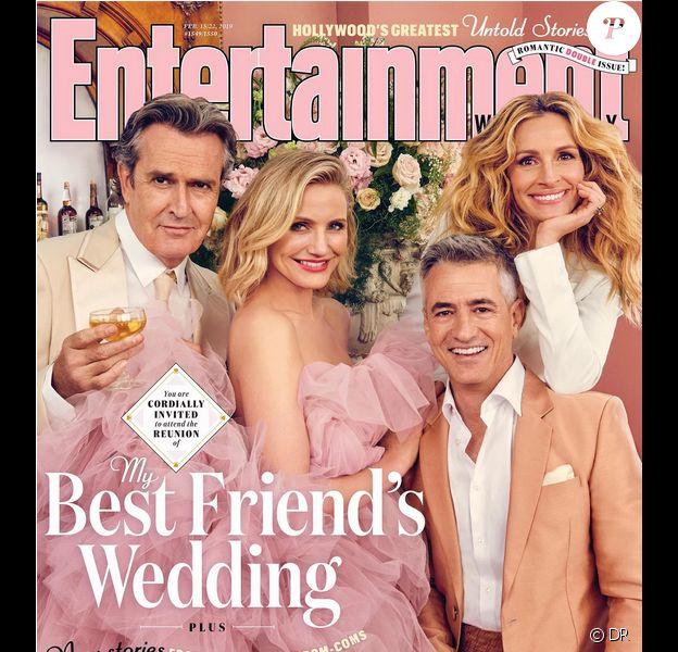 Le casting du Mariage de mon meilleur ami (1997) réuni en 2019 pour Entertainment Weekly : Rupert Everett, Cameron Diaz, Dermot Mulroney et Julia Roberts