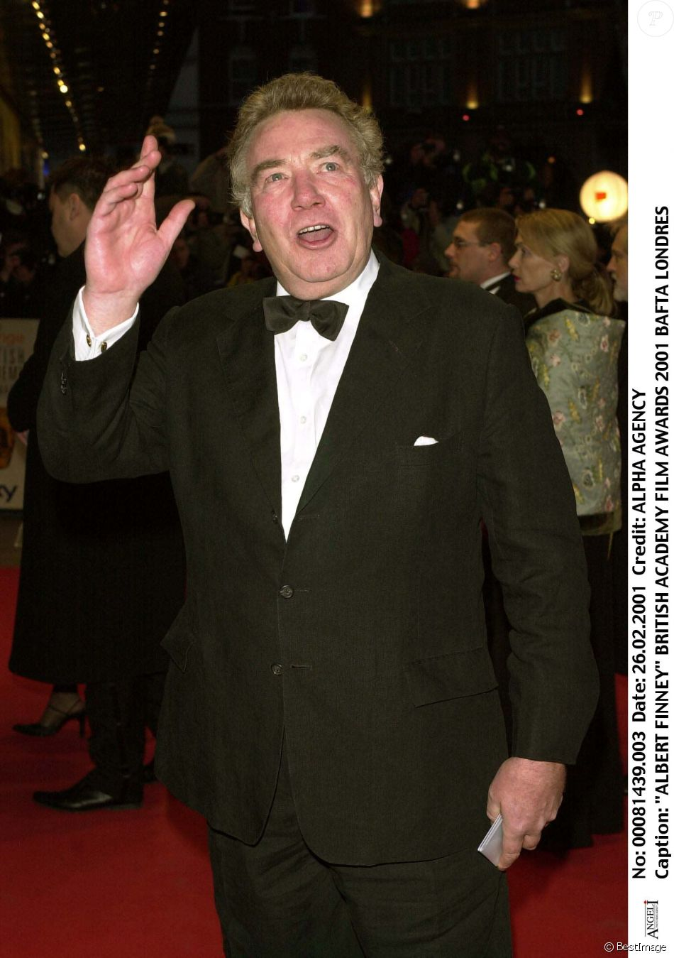 Albert Finney - BAFTA Awards en 2001 à Londres