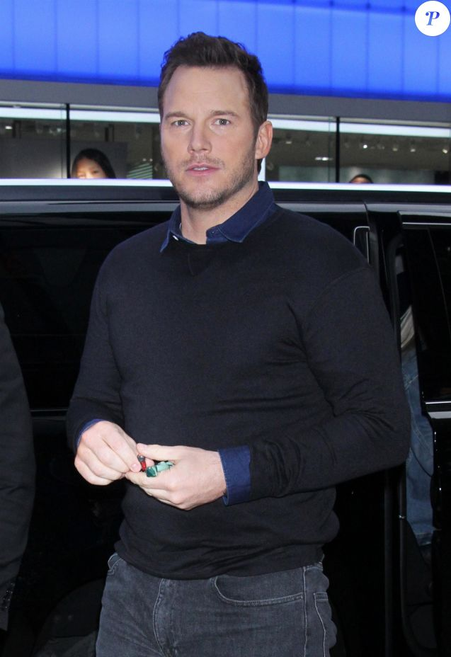 "Chris Pratt, en promotion pour ""La Grande Aventure Lego 2"" (The Lego Movie 2: The Second Part) fait un passage à l'émission Good Morning America à New York le 5 février 2019."