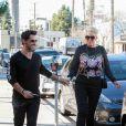 Exclusif - Brigitte Nielsen et son mari Mattia Dessì sont allés déjeuner en amoureux au restaurant Joan's On Third à Studio City, Los Angeles, le 24 janvier 2019