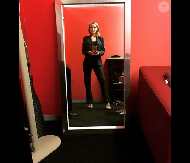 """Maya Lauqué dans les coulisses de """"La Quotidienne"""" - Instagram, 6 février 2019"""
