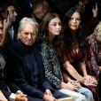 Michael Douglas, Catherine Zeta-Jones et leur fille Carys au défilé de mode Michael Kors Collection automne hiver 2019/2020 lors de la fashion week de New York le 13 février 2019.