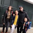 Franck Ribéry avec ses filles Hiziya, Shaninez et son fils Seïf el Islam lors de la rentrée des classes en septembre 2018, photo Instagram.