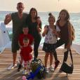 Franck Ribéry, sa femme Wahiba et leurs enfants Hiziya, Shaninez, Seïf el Islam et Mohammed aux Maldives en décembre 2017, photo Instagram.