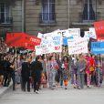 Défilé Chanel, la manifestation dans un Paris reconstitué, collection printemps-été 2015 au Grand Palais à Paris.