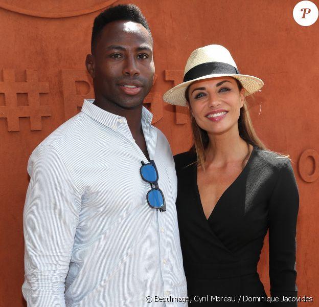 Ariane Brodier et son compagnon Fulgence Ouedraogo au village lors des internationaux de tennis de Roland Garros à Paris le 5 juin 2017. © Cyril Moreau / Dominique Jacovides / Bestimage