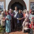 Le prince Harry, duc de Sussex, et Meghan Markle, duchesse de Sussex, enceinte, visitent un pensionnat de jeunes filles à Asni dans le cadre de leur voyage officiel au Maroc, le 24 février 2019.