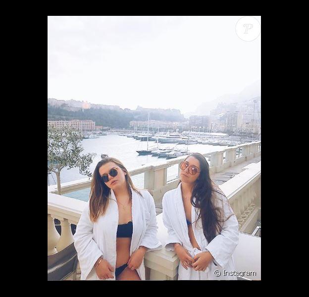 Camille Gottlieb et son amie Laura en détente aux Thermes marins de Monte-Carlo le 23 février 2019