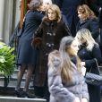 Cecilia Attias - Obsèques de Lee Radziwill (Caroline Lee Bouvier), la soeur de Jackie Kennedy, belle soeur de JFK, en l'église Saint Thomas More à New York le 25 février 2019.