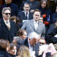 Marc Jacobs, Sofia Coppola et son mari Thomas Mars - Obsèques de Lee Radziwill (Caroline Lee Bouvier), la soeur de Jackie Kennedy, belle soeur de JFK, en l'église Saint Thomas More à New York le 25 février 2019.