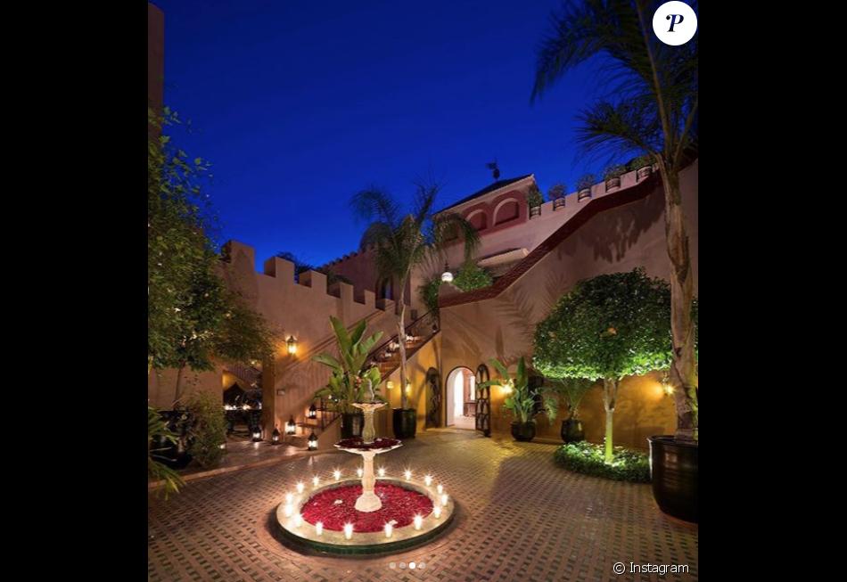 Vue de la Kasbah Tamadot, à Asni au Maroc, hôtel de luxe 5* de Virgin Limited Edition, société de Sir Richard Branson. Photo Instagram Virgin Limited Edition, 25 février 2019.