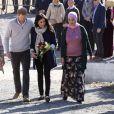 Meghan Markle, duchesse de Sussex, enceinte, et le prince Harry à Asni au Maroc le 24 février 2019.