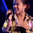 """Whitney dans """"The Voice 8"""" sur TF1, le 9 mars 2019."""