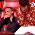 """Nikos Aliagas commet un énorme lapsus sexuel dans """"The Voice 8"""" sur TF1, le 9 mars 2019."""