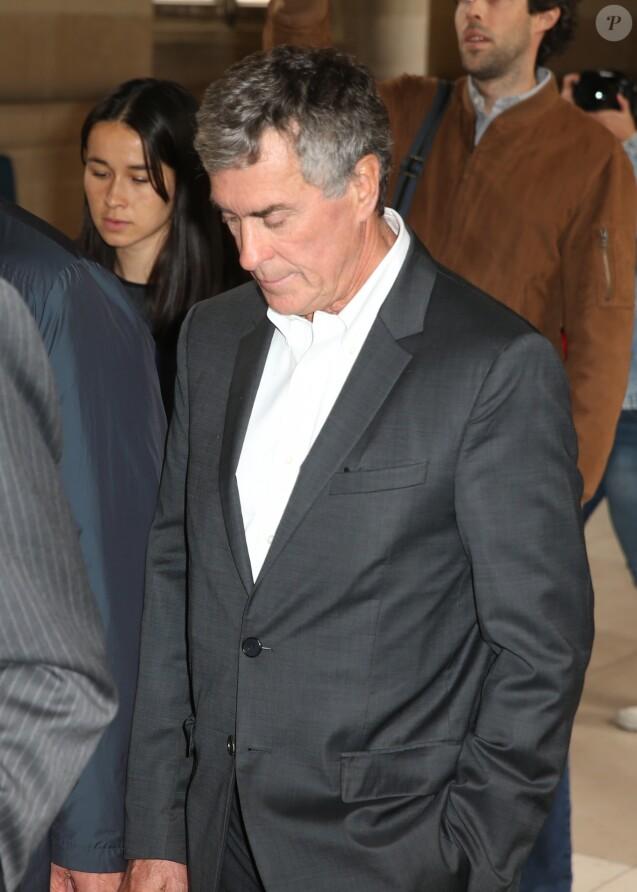L'ancien mnistre du Budget Jérôme Cahuzac, condamné en 2016 à trois ans de prison pour fraude fiscale arrive à la cour d'appel de Paris le 15 mai 2018.