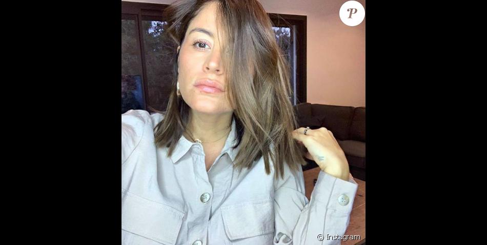 Anaïs Camizuli enceinte, le 31 janvier 2019.