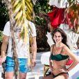 Exclusif - James Franco et sa compagne Isabel Pakzad profitent de jolies vacances romantiques sous le soleil de Miami, le 13 mars 2019.