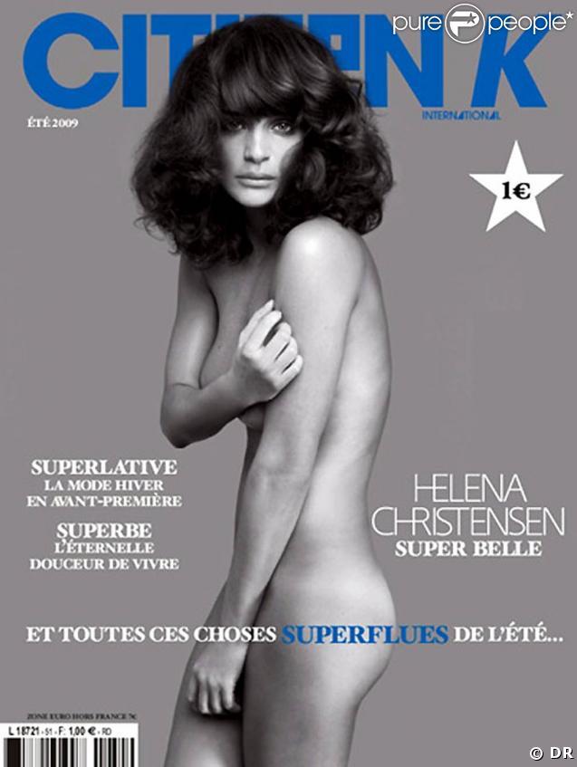 Helena Christensen, en couverture de  Citizen K , édition de l'été 2009