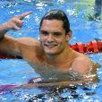 Florent Manaudou champion du monde de 50m nage libre à Berlin, le 24 août 2014.