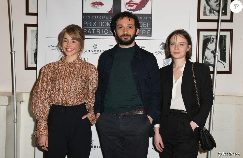 Alice Isaaz, William Lebghil et Diane Rouxel - Conférence de presse du Prix Romy Schneider et Patrick Dewaere au Cinéma Le Mac Mahon à Paris, le 21 mars 2019.