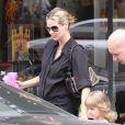 Heidi Klum et sa fille Leni sortant de chez le coiffeur à Beverly Hills