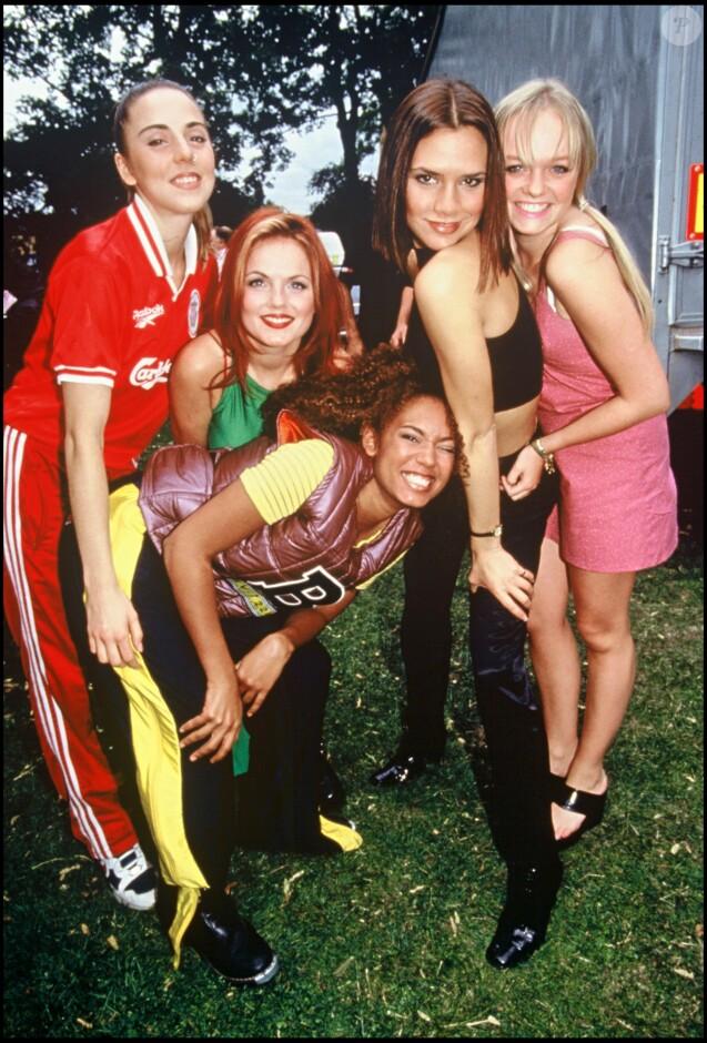 Les Spice Girls en 1997 aux Brit Awards.