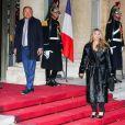 Hélène Rollès - Arrivées au dîner d'état en l'honneur du président de la république de Chine X.Jinping au Palais de L'Elysée, Paris, le 25 mars 2019. ©Dominique Jacovides / BestImage