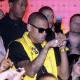 Chris Brown lors d'une soirée pour la prochaine sortie de son album dans le club Karu & Y de Miami le 6 juin 2009