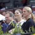 Les princesses Madeleine et Victoria de Suède lors des célébrations de la Fête Nationale suédoise, le 6 juin 2009
