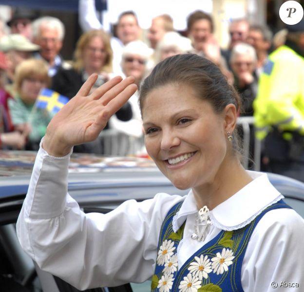 La princesse Victoria de Suède lors des célébrations de la Fête Nationale suédoise, le 6 juin 2009