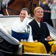 Les princesses Victoria et Madeleine de Suède lors des célébrations de la Fête Nationale suédoise, le 6 juin 2009